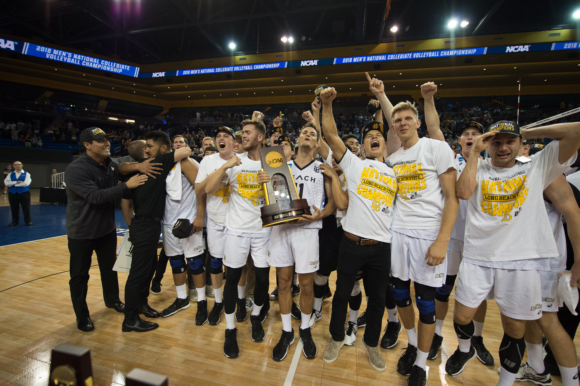 National Champion Men S Volleyball Team To Be Recognized Saturday At Dirtbags Game Long Beach State University Athletics