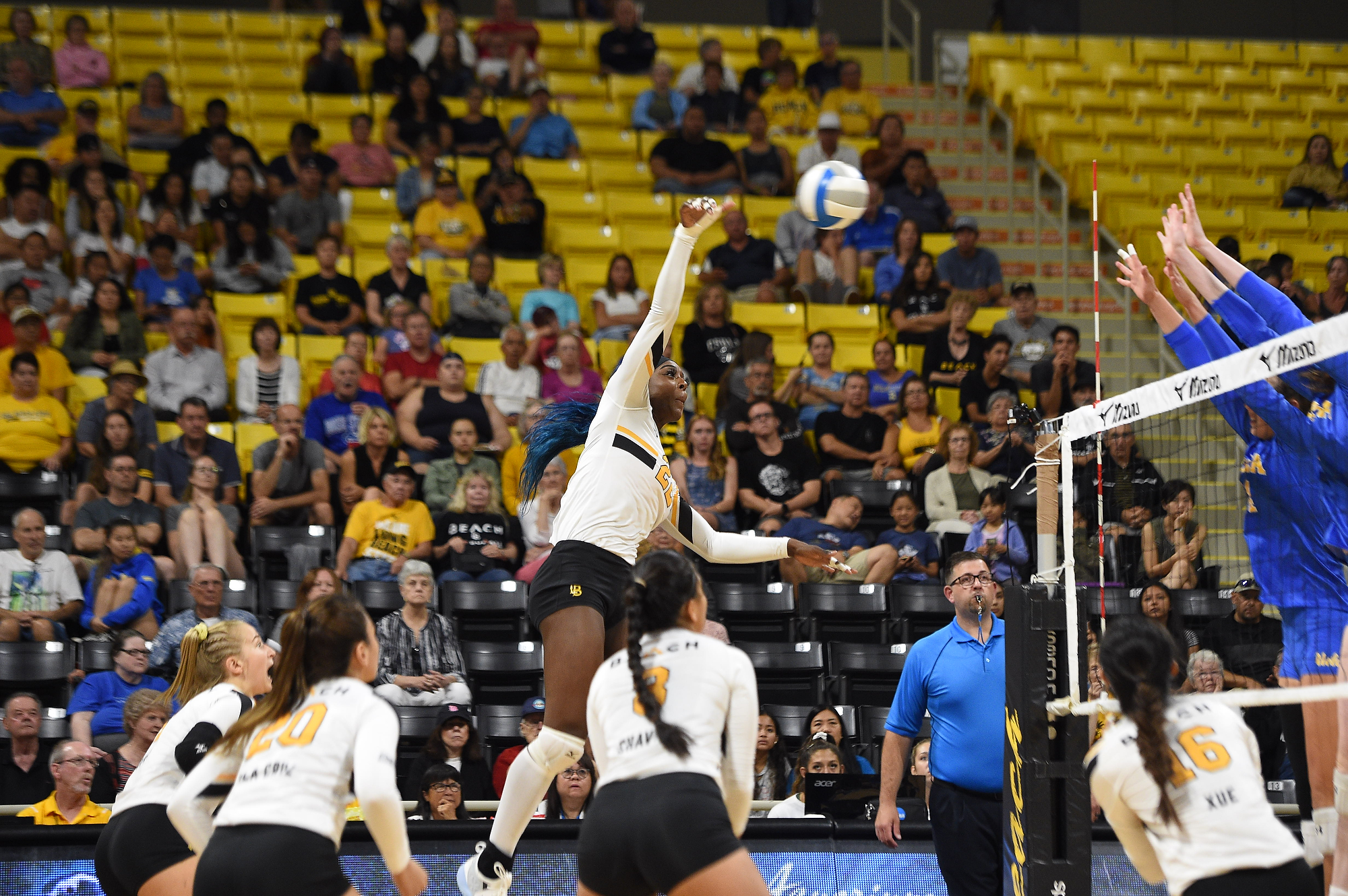 The Beach Fall In Straight Sets At Cal Poly Long Beach State University Athletics